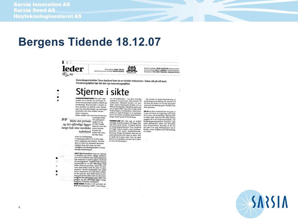 Bergens Tidende 18.12.07