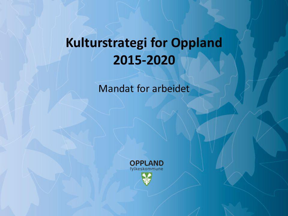 Kulturstrategi for Oppland 2015-2020