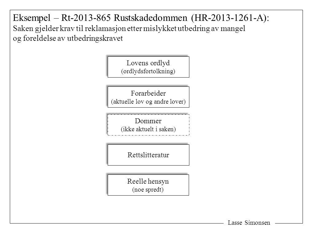 Eksempel – Rt-2013-865 Rustskadedommen (HR-2013-1261-A):
