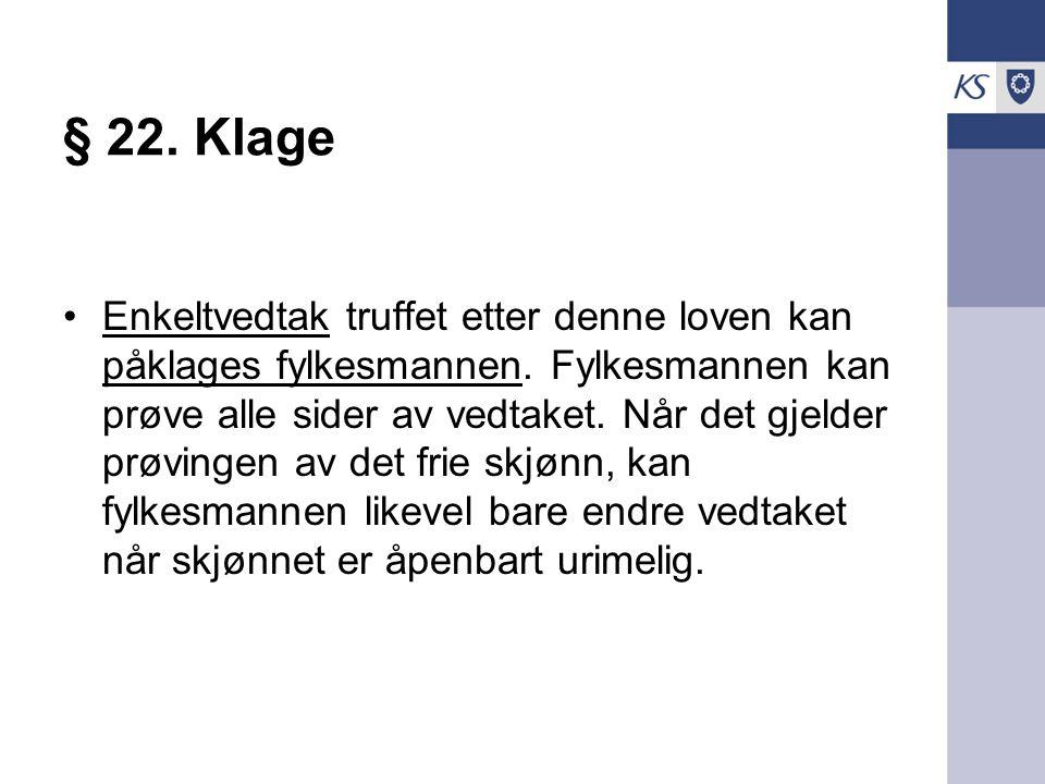 § 22. Klage