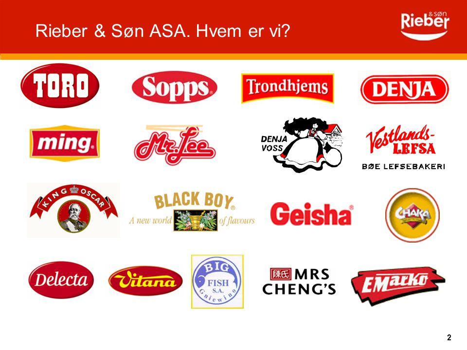 Rieber & Søn ASA. Hvem er vi