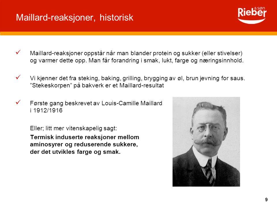 Maillard-reaksjoner, historisk