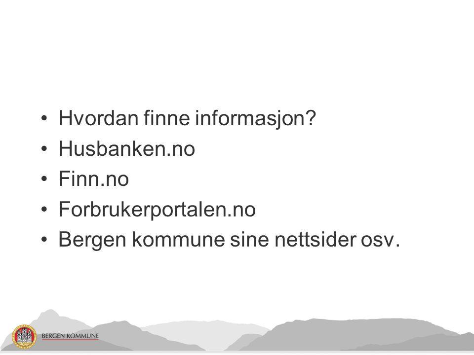 Hvordan finne informasjon