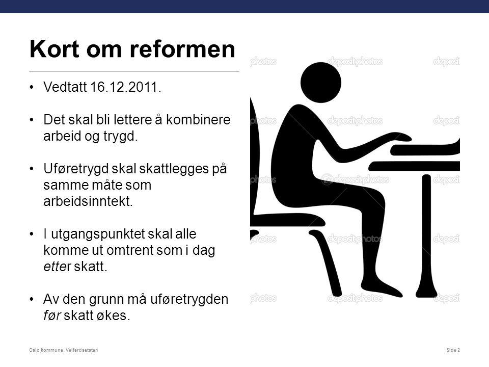 Kort om reformen Vedtatt 16.12.2011.
