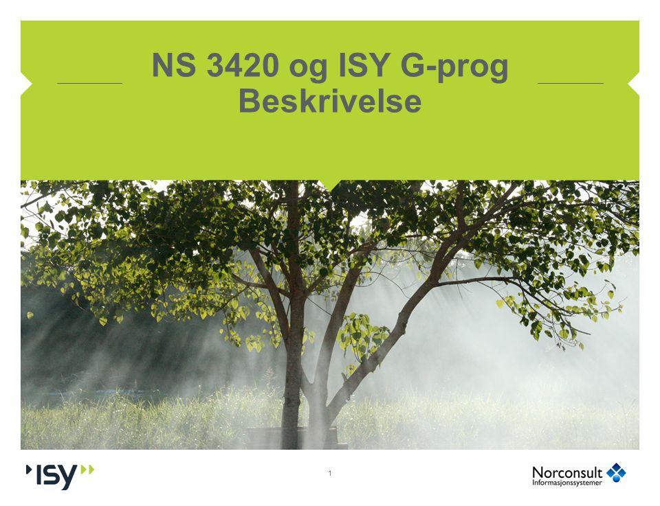 NS 3420 og ISY G-prog Beskrivelse