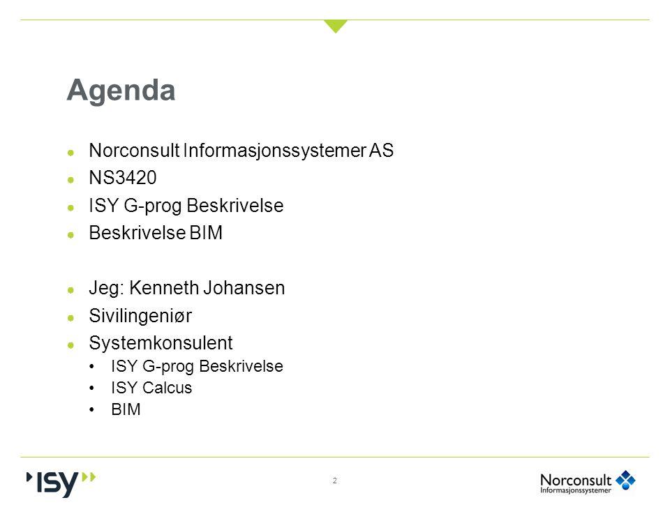 Agenda Norconsult Informasjonssystemer AS NS3420