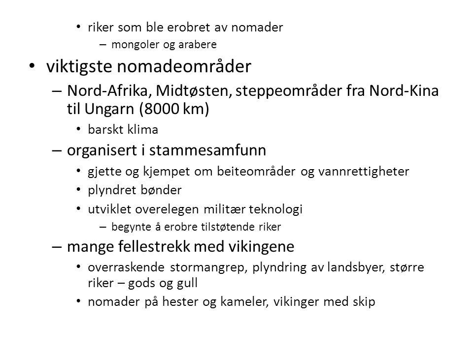 viktigste nomadeområder