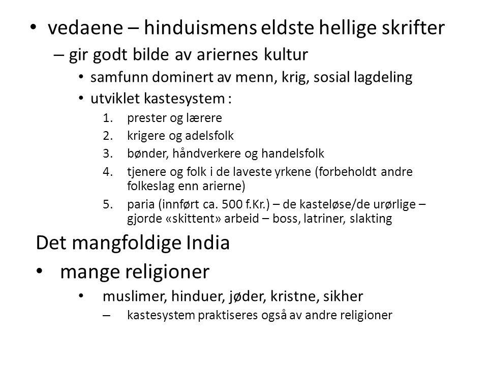 vedaene – hinduismens eldste hellige skrifter