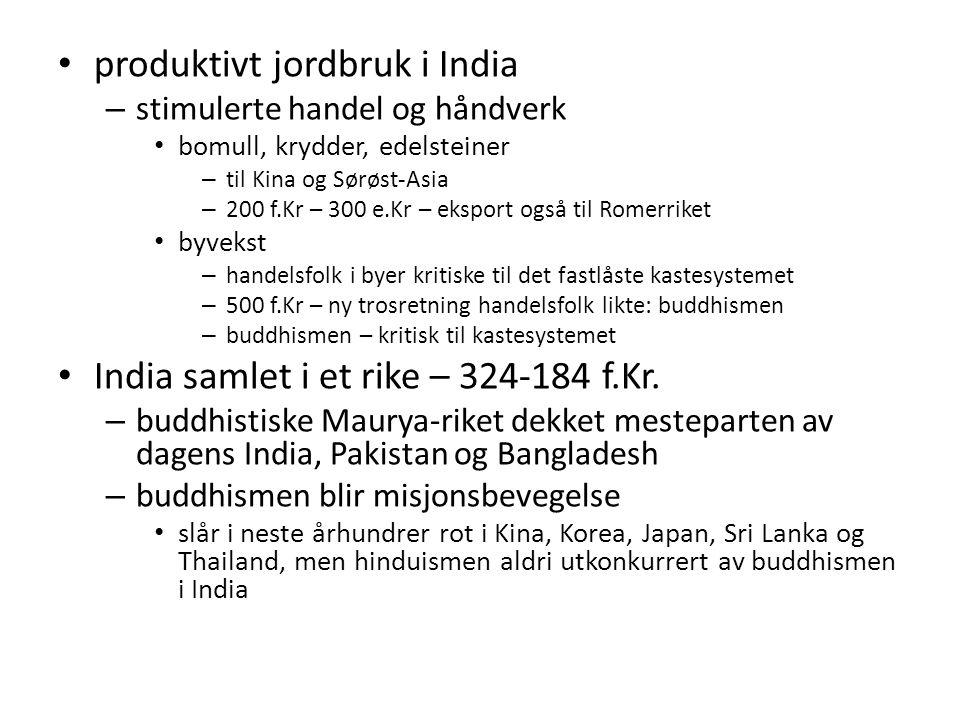 produktivt jordbruk i India