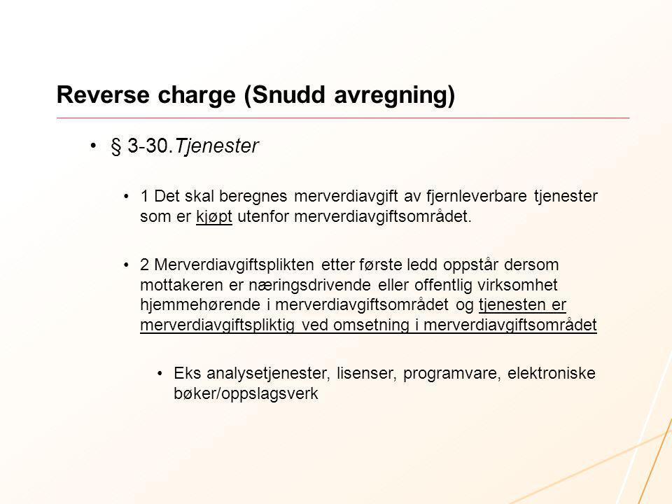 Reverse charge (Snudd avregning)