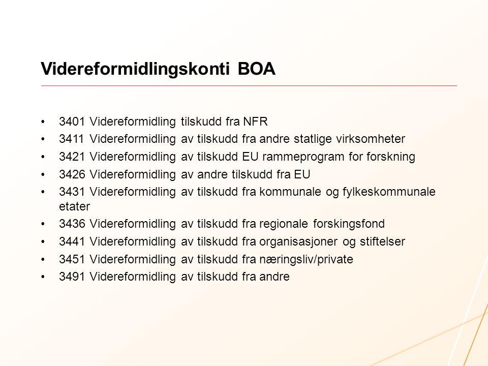 Videreformidlingskonti BOA
