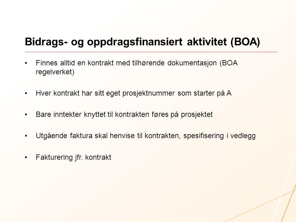 Bidrags- og oppdragsfinansiert aktivitet (BOA)