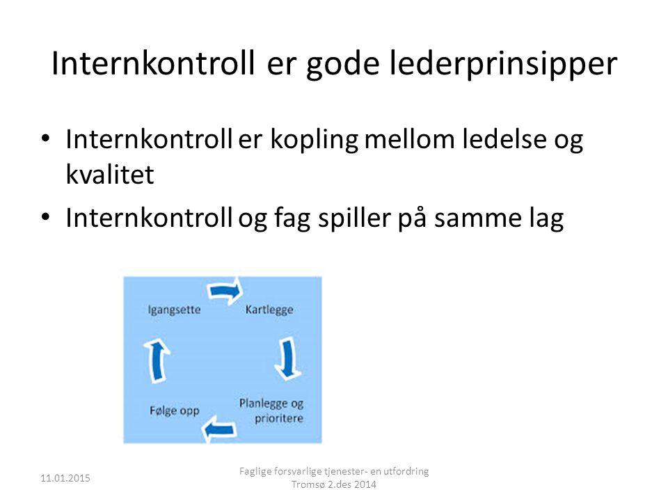 Internkontroll er gode lederprinsipper