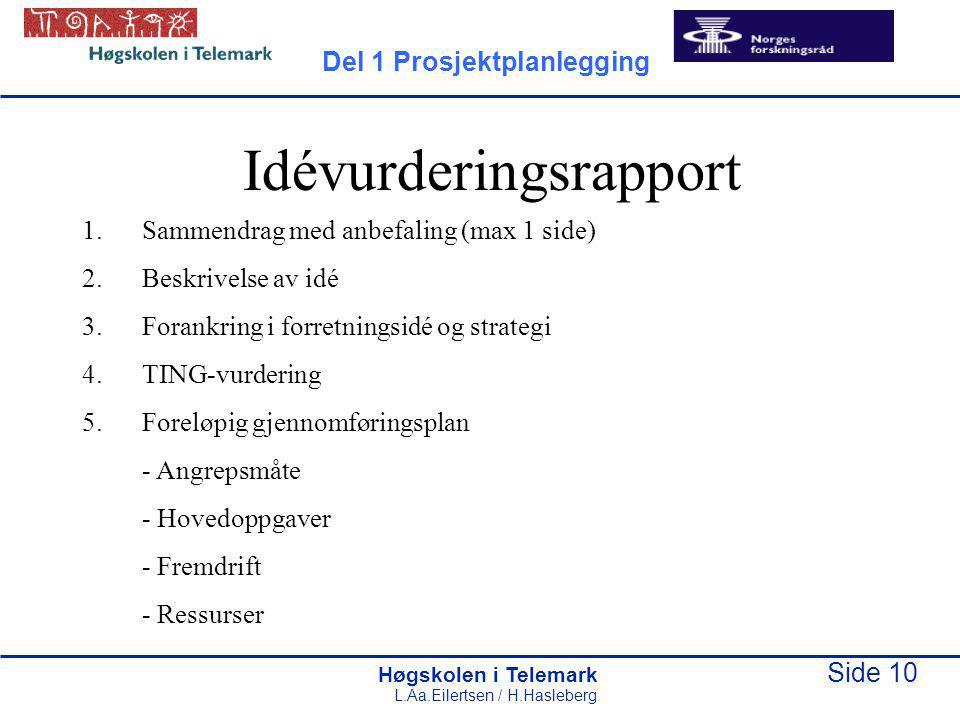 Idévurderingsrapport