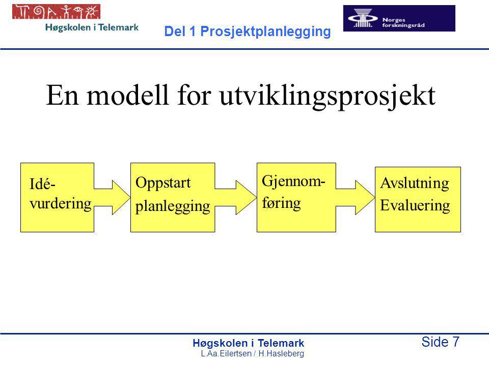 En modell for utviklingsprosjekt