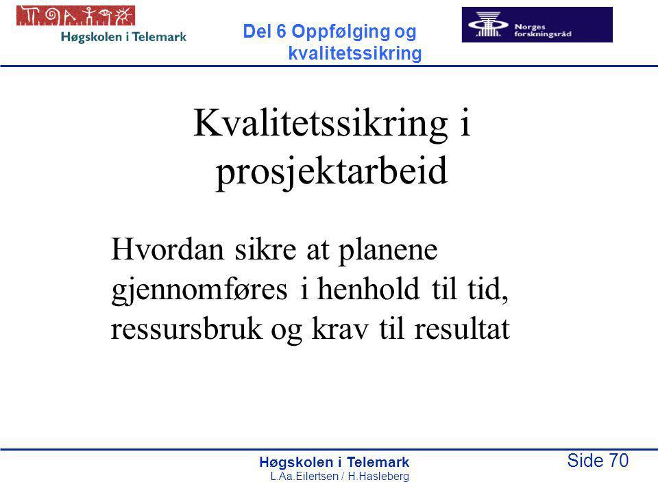 Kvalitetssikring i prosjektarbeid