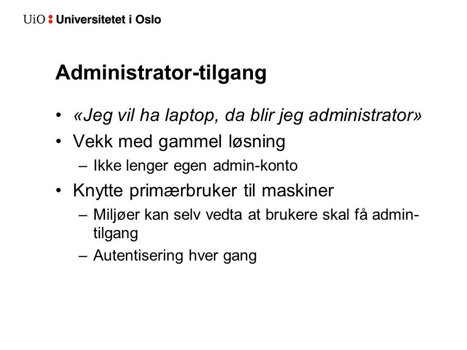 Administrator-tilgang