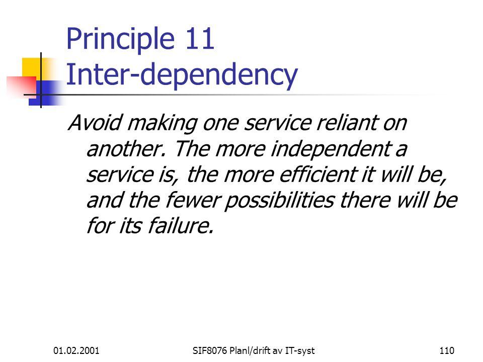 Principle 11 Inter-dependency