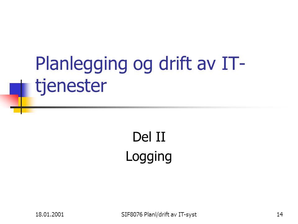 Planlegging og drift av IT-tjenester