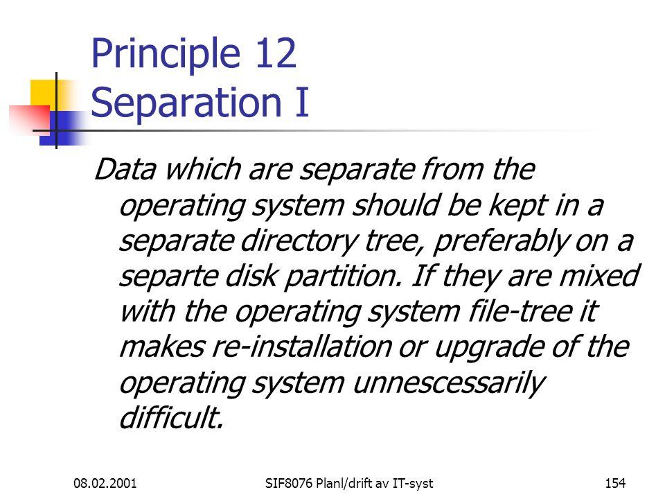 Principle 12 Separation I