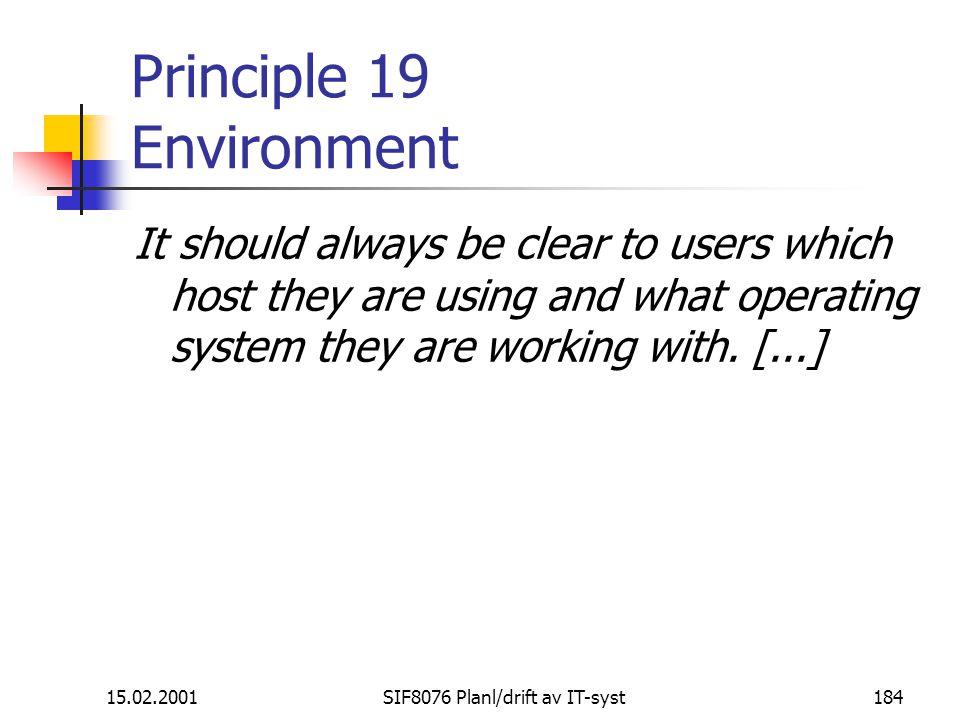 Principle 19 Environment