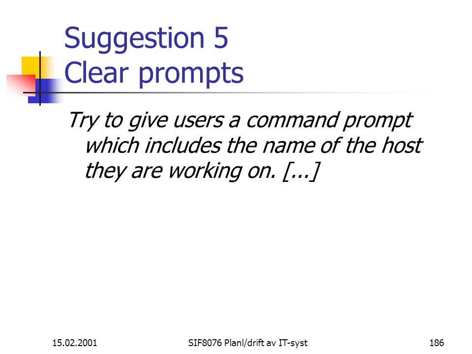 Suggestion 5 Clear prompts