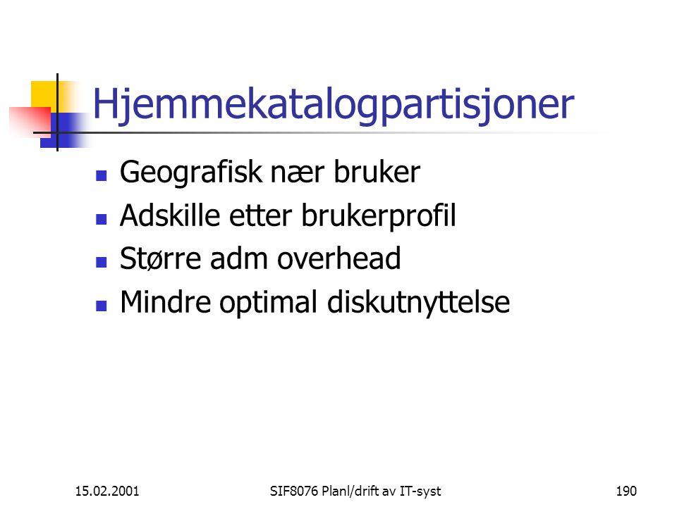 Hjemmekatalogpartisjoner