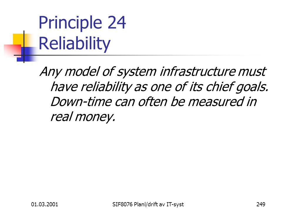Principle 24 Reliability