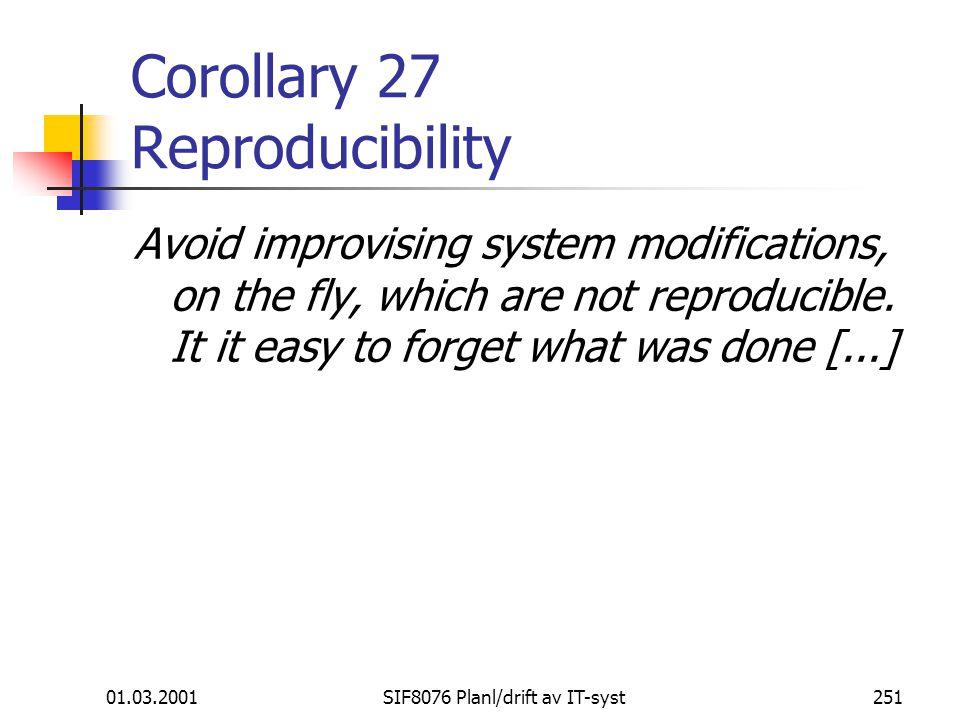 Corollary 27 Reproducibility