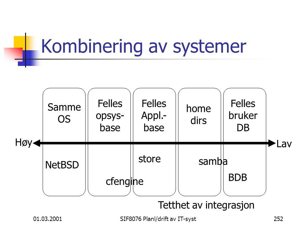 Kombinering av systemer