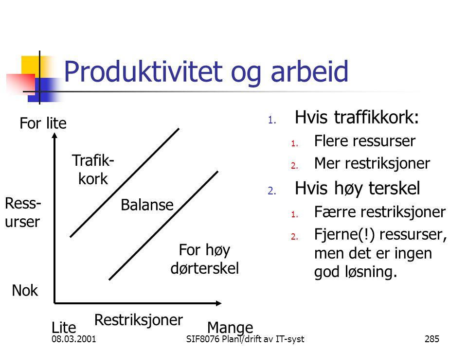 Produktivitet og arbeid