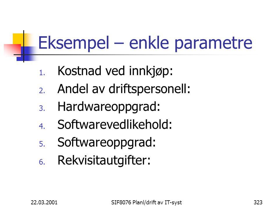 Eksempel – enkle parametre