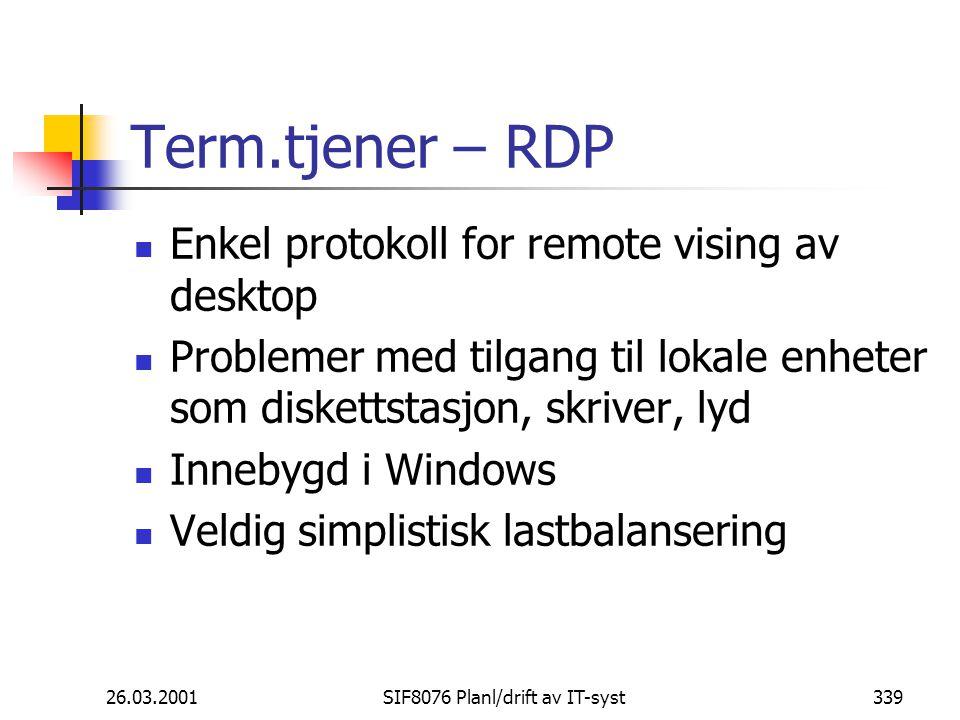 SIF8076 Planl/drift av IT-syst