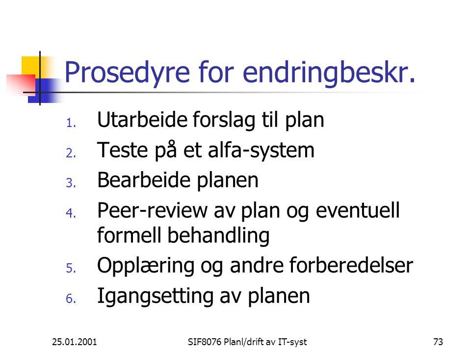 Prosedyre for endringbeskr.