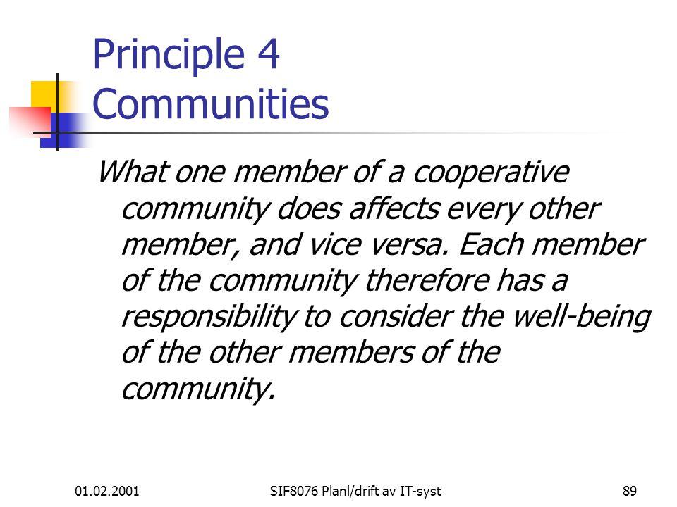 Principle 4 Communities