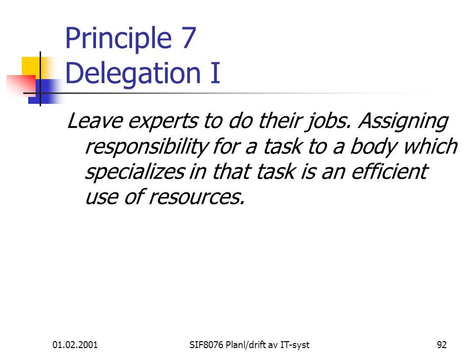 Principle 7 Delegation I