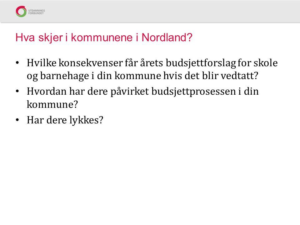 Hva skjer i kommunene i Nordland
