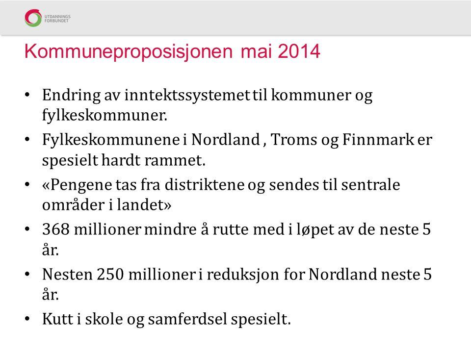 Kommuneproposisjonen mai 2014