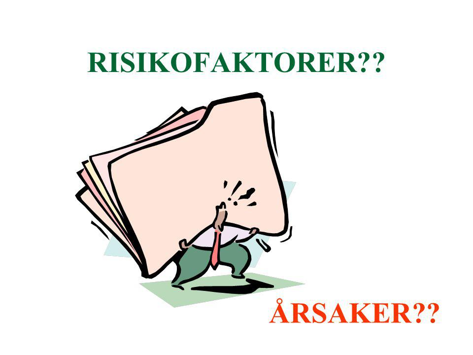 RISIKOFAKTORER ÅRSAKER