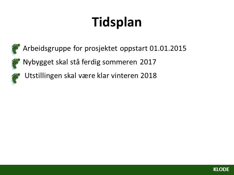 Tidsplan Arbeidsgruppe for prosjektet oppstart 01.01.2015