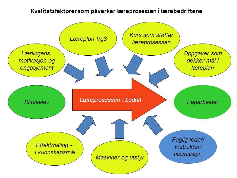 Kvalitetsfaktorer som påverker læreprosessen i lærebedriftene