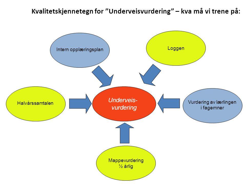 Kvalitetskjennetegn for Underveisvurdering – kva må vi trene på: