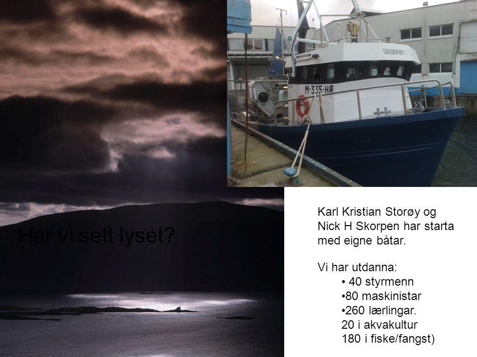 Har vi sett lyset Karl Kristian Storøy og Nick H Skorpen har starta