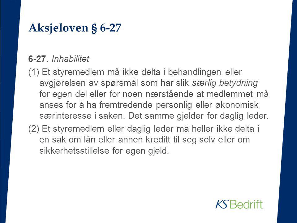Aksjeloven § 6-27
