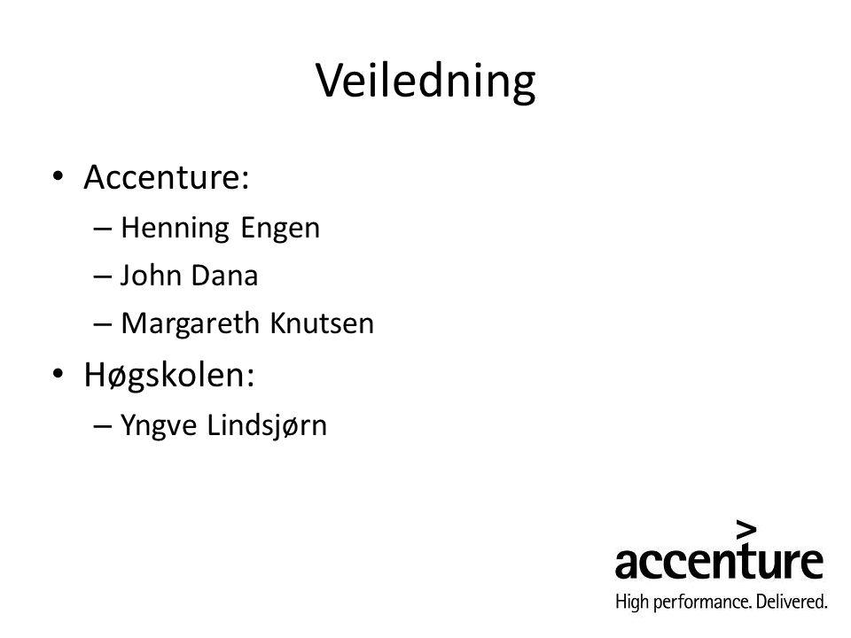 Veiledning Accenture: Høgskolen: Henning Engen John Dana