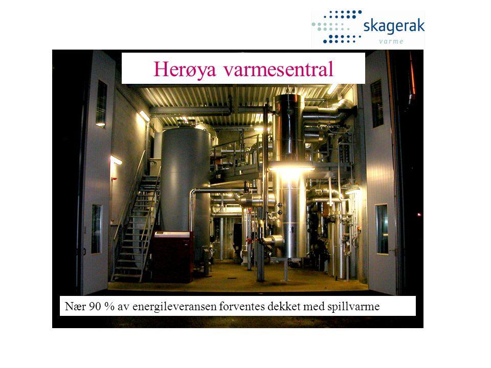 Herøya varmesentral Nær 90 % av energileveransen forventes dekket med spillvarme