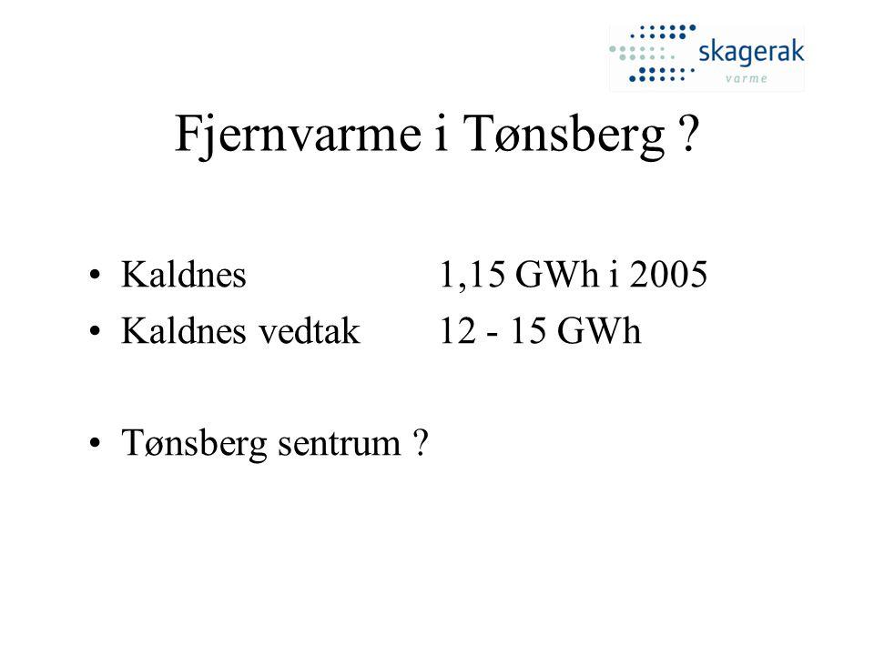 Fjernvarme i Tønsberg Kaldnes 1,15 GWh i 2005
