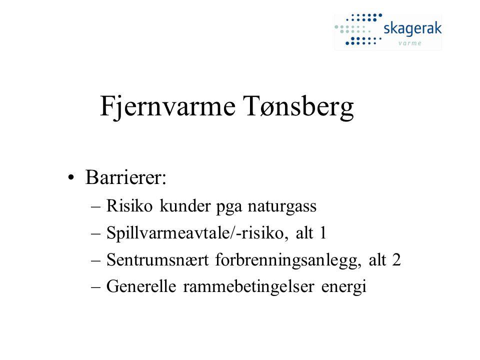 Fjernvarme Tønsberg Barrierer: Risiko kunder pga naturgass