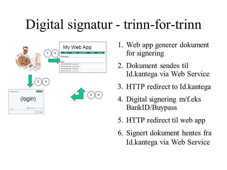 Digital signatur - trinn-for-trinn