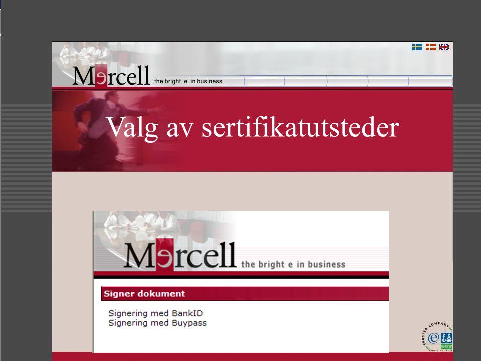 Valg av sertifikatutsteder